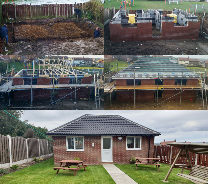 Construction of small bungalow in Penistone