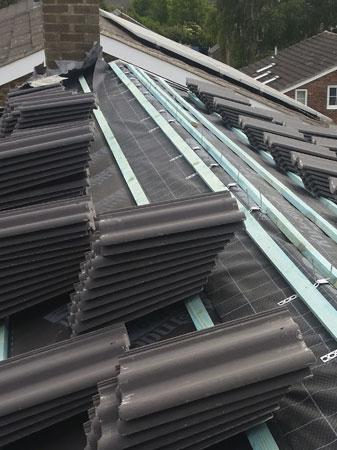 Roofing work in Penistone underway