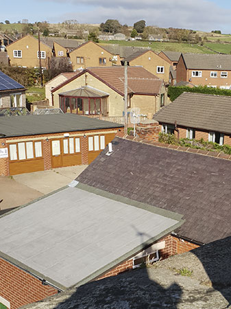 Roofs of houses in the Penistone, South Yorkshire