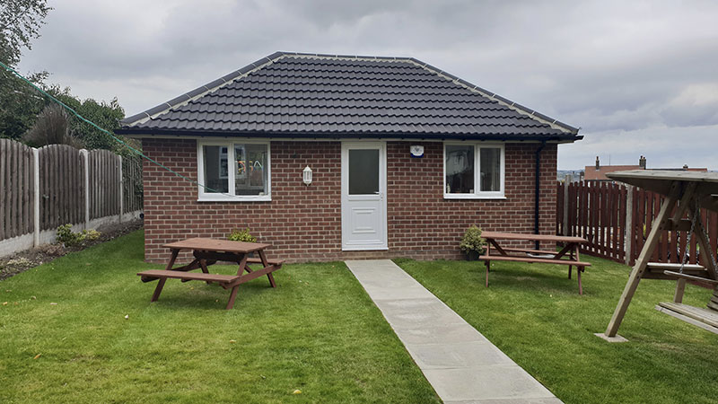 Completed new build of bungalow in Penistone